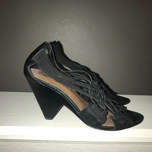 Donald J. Pliner Strappy Black Sandal Heels size 7